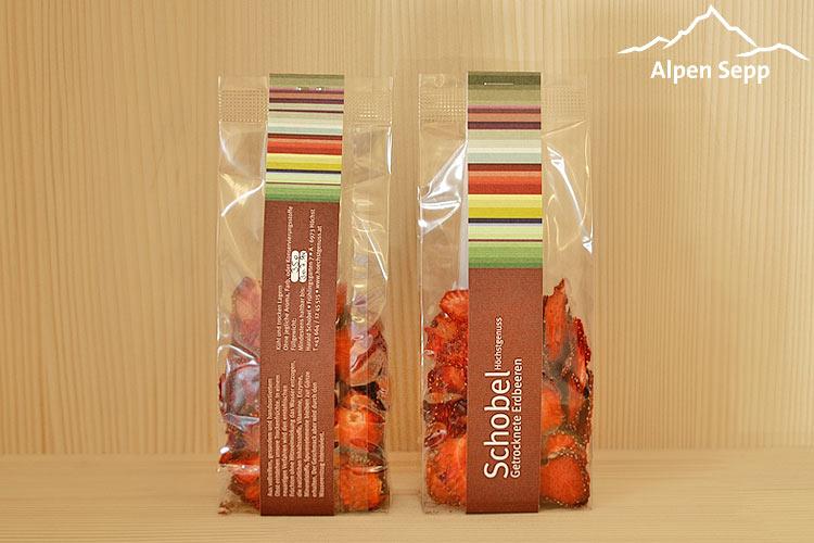 Getrocknete Erdbeeren Spezialität