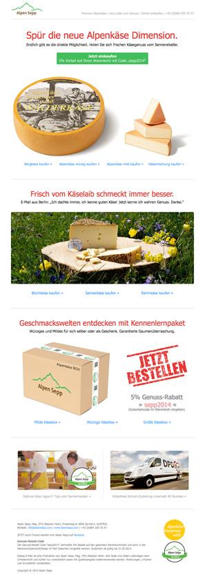 Der aktuelle Alpen Sepp Newsletter