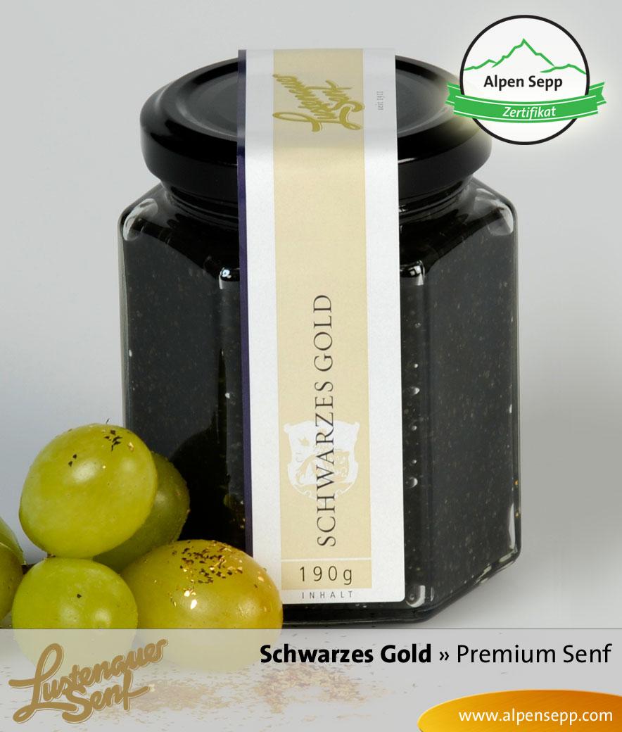 Schwarzes Gold Premium Senf von Lustenauer Senf