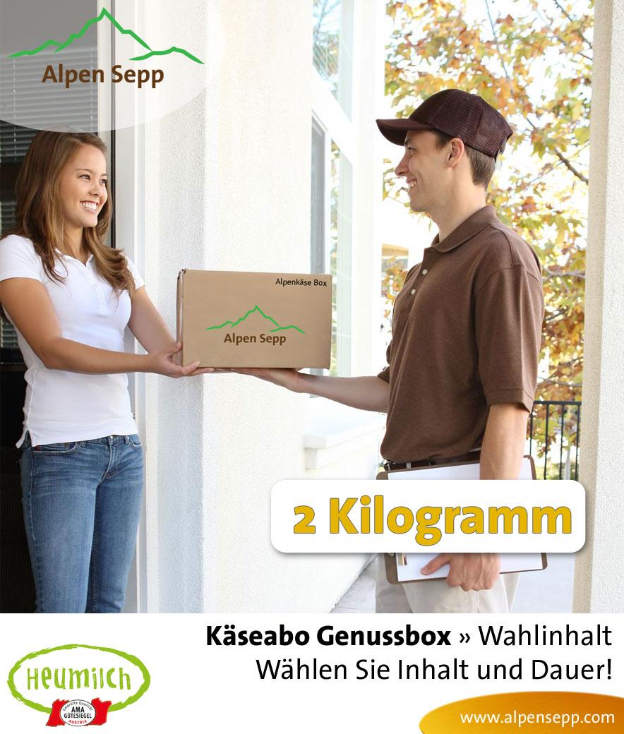 2 kg Genussbox Käseabo mit Wahlinhalt