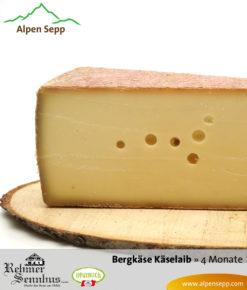 Bregenzerwälder Bergkäse mild, 4 Monate, Sennerei Rehmen, Käselaib