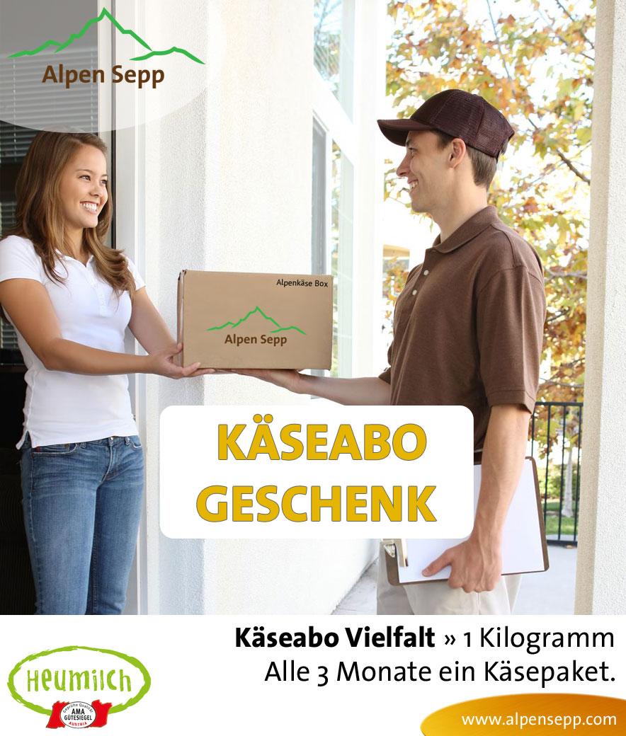 3 Monate Geschenk Käseabo Vielfalt 1 Kilogramm
