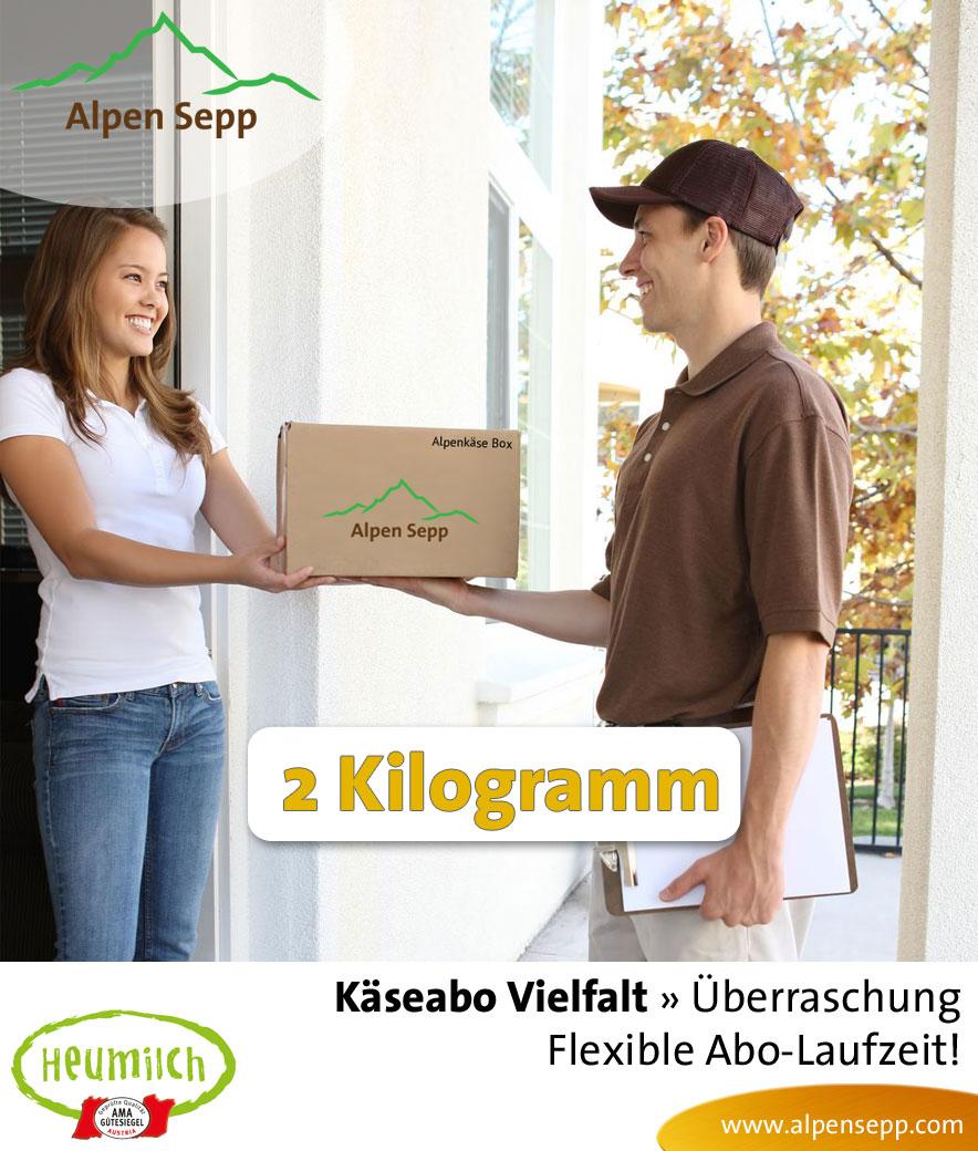 Zufallsabo Käseabo Vielfalt, 2 Kilogramm