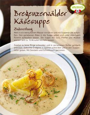 Rezept: Bregenzerwälder Kaesesuppe