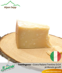 Käse Trentingrana - Grana Padano Trentino D.O.P. - 36 Monate gereift. Ähnlich Parmesan.