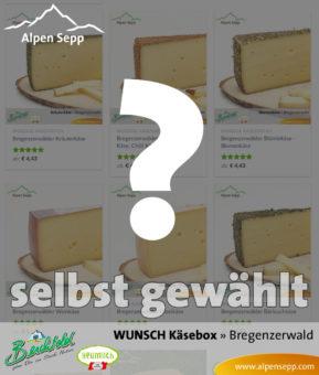 Alpen Wunsch BOX - Wählen Sie aus unserer Käsevielfalt 8x Heumilch Käse