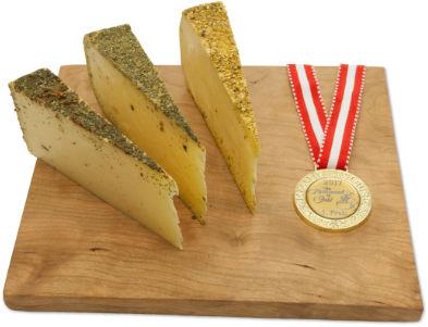 Rehmer Goldmedaillen Käsebox + LED-Licht als Geschenk von AlpenSepp