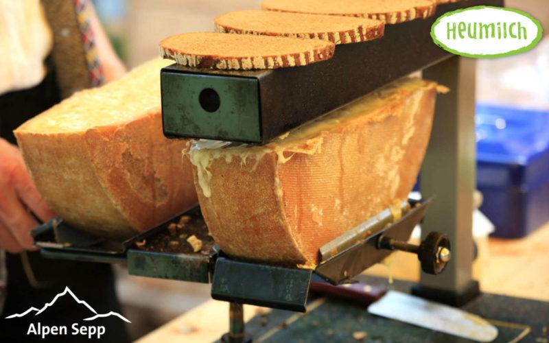 Raclette Käse würzig für Gasgeräte und Elektrogeräte