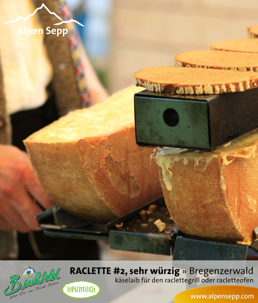 Raclette #2 sehr würziger Käselaib für den Raclettegrill