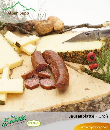 Große Jausenplatte mit Käse und Wurst
