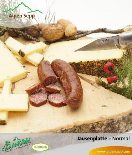Jausenplatte normal, Wurst und Käse
